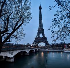 Aluminium Prints Eiffel Tower eiffel tower in paris