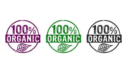 100 percent organic stamp Fototapete