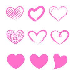 Walentynki - zestaw różowych serc