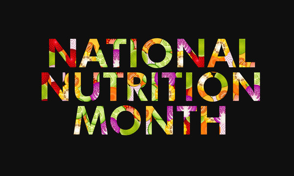illustration on the theme of National Nutrition Month of March.