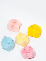 Multi colors paper fortune teller