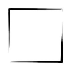 Square frame with blank by India ink