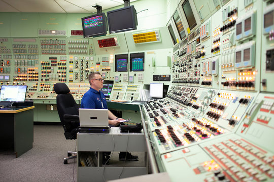 Control room at the Pickering Nuclear Power Generating Station near Toronto
