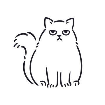 Angry cat drawing