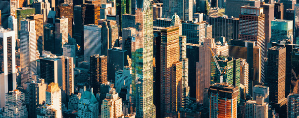 Aerial view of the skyscrapers of Midtown Manhattan New York City Wall mural