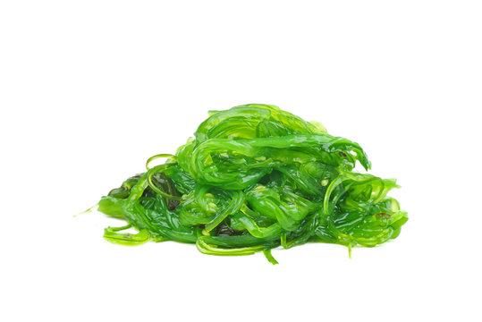 Wakame seaweed isolated on white background