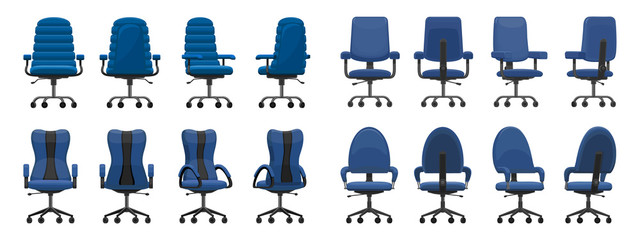 Office chair isolated cartoon icon.Vector illustration interior furniture on white background . Vector cartoon set icon office chair.