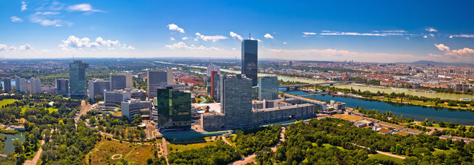 Wall Murals Vienna Vienna skyline and cityscape aerial panoramic view
