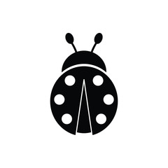 ladybug  icon black vector sign