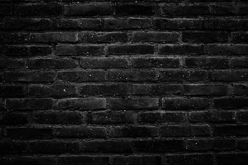 Background of black old brick wall