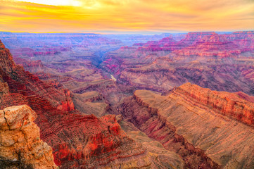 Beautiful Landscape of Grand Canyon from Desert View Point with the Colorado River, Arizona, United states of america. Wall mural