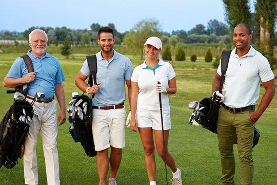 Happy companionship on golf course