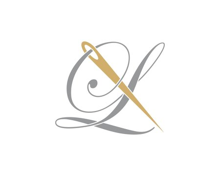 Letter L With Needle Logo Design Template 002