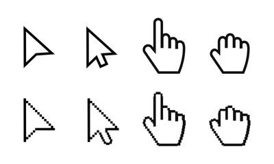 Arrow web cursors set