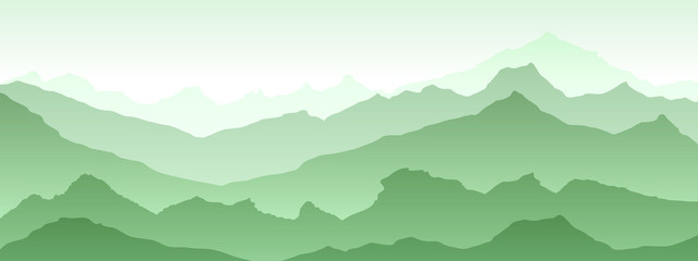Spoed Fotobehang Olijf blue Pattern texture eps 10 illustration background View of green mountains - vector