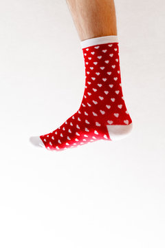 socks with hearts for Valentine's day