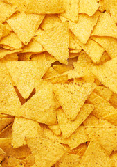 Background of Mexican nachos chips