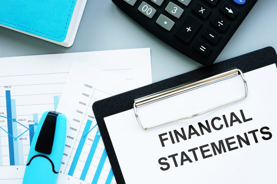 Text sign showing hand written words Financial Statements