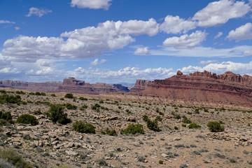 Tilting Sandstone Mountains of desert Utah