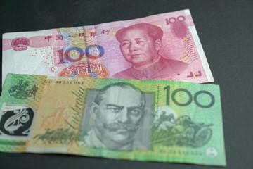 Chinese Yuan (RMB) and Australia Dollar (AUD)