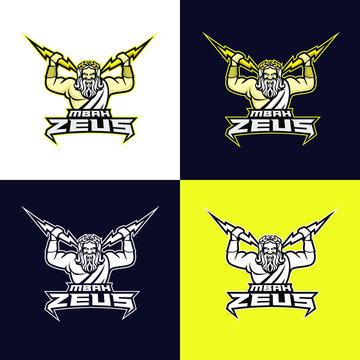 Zeus god sport logo design