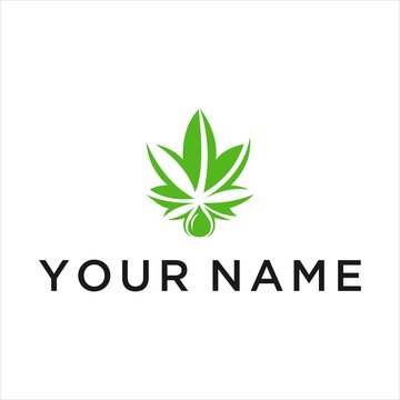 marijuana leaf vector logo graphic abstract modern