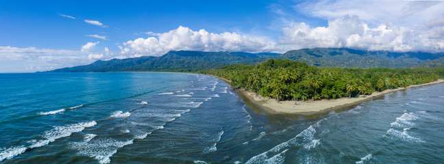 Poster Coast Beautiful Uvita Beach, Costa Rica, Puntarenas.