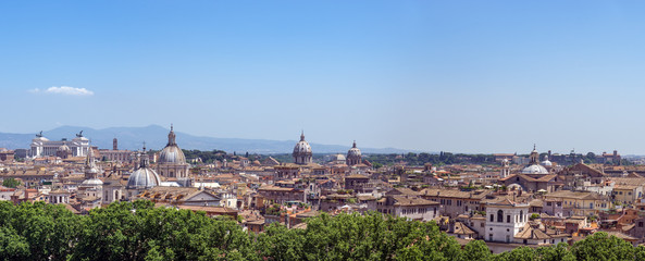 Panoramic view of Rome from Castel Sant'Angelo - Rome, Italy