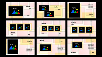 Set Landing pages beige color of quadrilaterals
