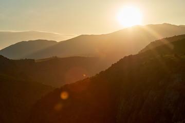 Foto auf Leinwand Braun Canyon in Aksu-Zhabagly Nature Reserve. Turkestan region. Kazakhstan.