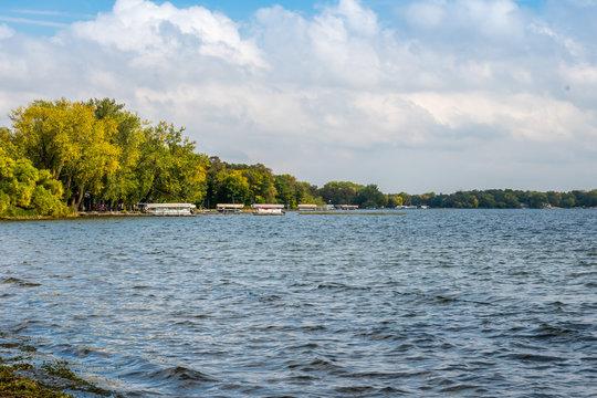 An overlooking landscape view of Alexandria, Minnesota