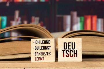 Ein Buch und Lernen von Deutsch