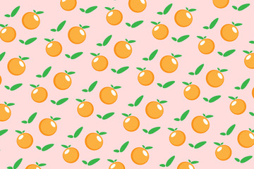 Wall Mural - Oranges on seamless white background