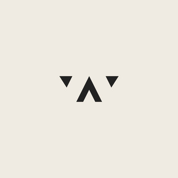 AW letter logo by combining the letters A and W  luxurious design