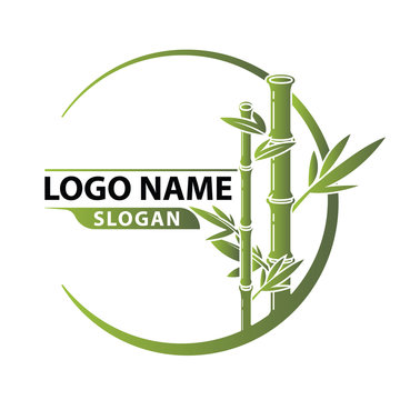 Bamboo Logo Template vector.