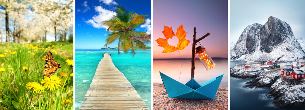 4 Jahreszeiten Collage
