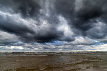 Fototapete - Windy day by Baltic sea.