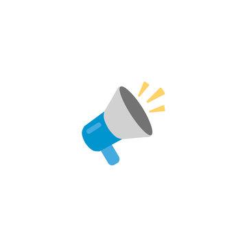 Megaphone flat vector Icon. Isolated loudspeaker emoji illustration