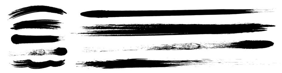 アナログタッチ素材:筆の質感 墨 インク 筆模様 波模様