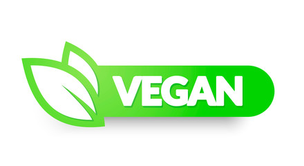 Vector Illustration Vegan Food Icon. Label Elements For Logos, Badges And Stickers Wall mural
