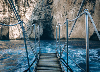 Blue caves of Paxos - the Ionian sea, Greece