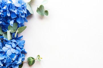 Foto auf Leinwand Hortensie Blue hydrangea flowers