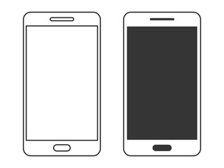 Set of Smartphone icons isolated - vector