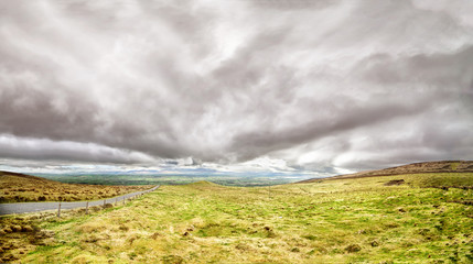 Photo Stands Melon Beautiful panoramic landscape wtih dramatic clouds in the south west of Ireland