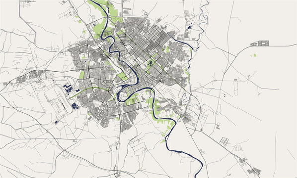 map of the city of Baghdad, Iraq