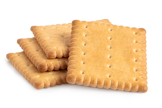 Butter biscuits on white.