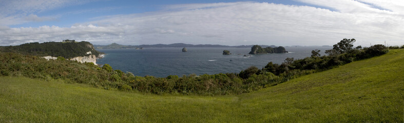 Printed roller blinds Cathedral Cove Panorama. Cathedral cove. new Zealand. Coromandel