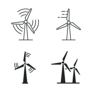 Wind power icon template color editable. wind turbine symbol vector sign isolated on white background illustration for graphic and web design.