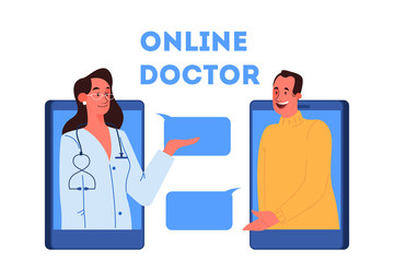 Online medical consultation concept. Idea of digital technology
