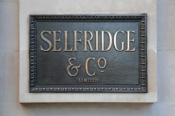 Bronze Plaque Selfridges in London